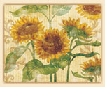 A Sunflower Reflections - Glass Cuttingboard 15x12