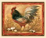 Cuttingboard Glass 15x12 - Mushroom Rooster