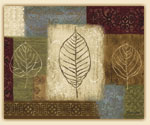 Cuttingboard Tempered Glass 15x12  Leaf Collage-Fall Leaves