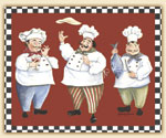 A Chefs Theme Tempered Glass 15x12 Cuttingboard