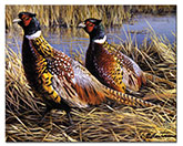 GameBird Pheasant LodgeCabin Glass Cuttingboard Serving Tray