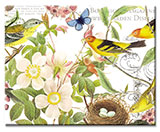 A Cuttingboard 15x12 Tempered Glass Botanical Birds