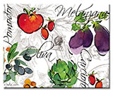 Alfresco Italia Abstract Vegie Glas Cuttingboard Serving Tray