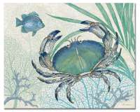 A Beach Crab Glass Cuttingboard Serving Tray Oceana