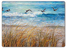 A Beach Watch Coastal Hardboard Placemats - Set of 2
