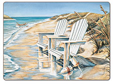A Beach Days Coastal Hardboard Placemat-Set of 2