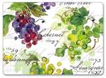 *NEW Vin 27 Wine/Grape - 4 Hardboard, Cork-back, Placemats