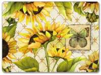 4 CorkBacked Hardboard Table-Placemats Sunflowers in Bloom