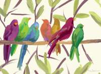 4 CorkBacked Hardboard Table-Placemats Multicolor Birds
