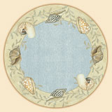 Tempered Glass Lazysusan Seashells