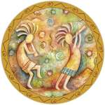 Tempered glass Lazysusan - Dance of Kokopelli