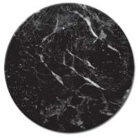 Black Marble - Tempered Glass Lazysusan