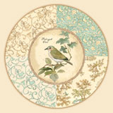 Tempered Glass Lazy Susan Garden Bird - Natures Melody