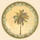 Island Palm Trees Tempered Glass Lazysusan