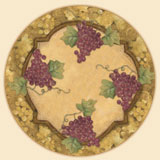 Wine Grape Design - Grand Vin Lazy Susan