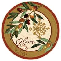 Tempered Glass Olive Design Lazysusan - Oliva