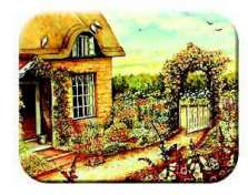 Cottage Floral Garden Tempered Glass Cuttingboard Serving Tray