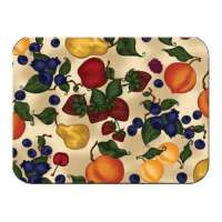 Apple-Pear-Grape Fruit Glass Serving Cuttingboard Trive