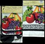 7-pc Fruit - Apple Grape Pear Kitchen Towe Mitt