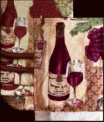 A Grape and Wine 7 pc Designer Kitchen Towel Set