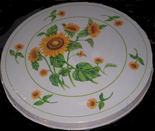 . Burner Covers Round Metal Wild Sunflower