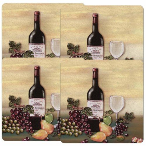 Square Wine Bottle-Grape Stove Burner Covers