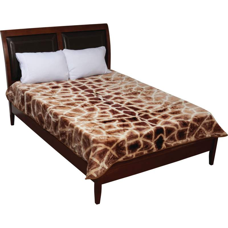 Giraffe Animal Print Plush Fleece Blanket Throw