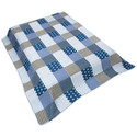 Blanket - Country Lodge/Cabin Patchwork- Blue
