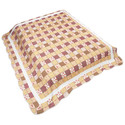 Blanket -Country Lodge/Cabin Patchwork - Tan