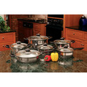 12 pc Stainless Steel Cookware Set-Glass Covers