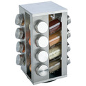16 Jar Stainless Steel Rotating Spice Rack